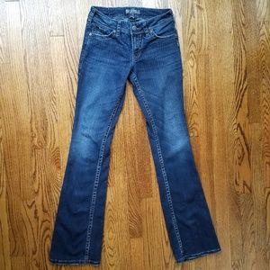 Silver Suki Surplus Dark Wash Bootcut Jeans 27L
